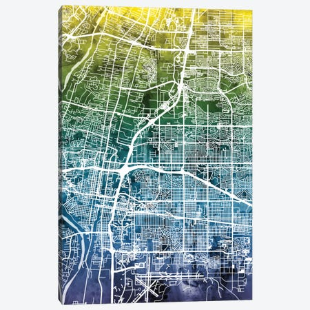 Albuquerque, New Mexico, USA Canvas Print #MTO24} by Michael Tompsett Canvas Wall Art