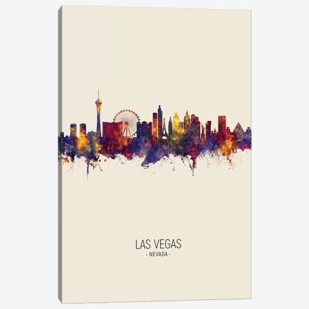 Las Vegas Nevada Skyline Fall Canvas Print #MTO2508} by Michael Tompsett Canvas Print
