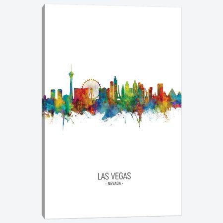 Las Vegas Nevada Skyline Portrait Canvas Print #MTO2509} by Michael Tompsett Art Print