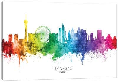 Las Vegas Nevada Skyline Rainbow Canvas Art Print