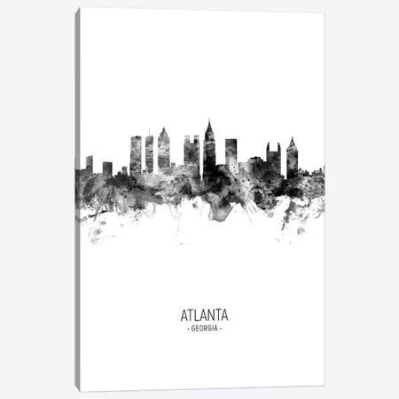 Atlanta Georgia Skyline Portrait Black And White Canvas Print #MTO2561} by Michael Tompsett Canvas Art Print