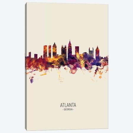 Atlanta Georgia Skyline Fall Canvas Print #MTO2562} by Michael Tompsett Canvas Art Print