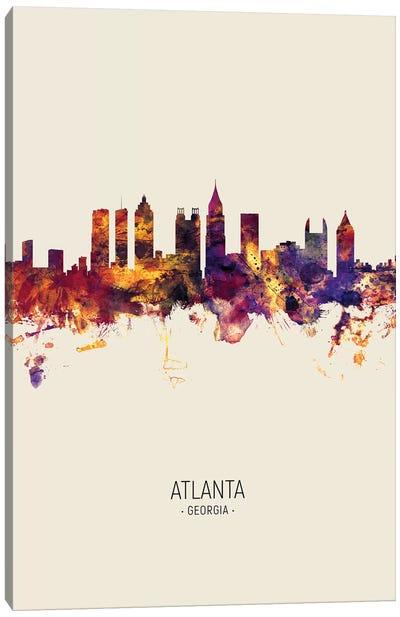 Atlanta Georgia Skyline Fall Canvas Art Print