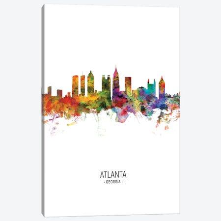 Atlanta Georgia Skyline Portrait Canvas Print #MTO2563} by Michael Tompsett Art Print