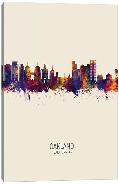 Oakland California Skyline Fall Canvas Art Print