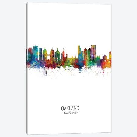 Oakland California Skyline Portrait Canvas Print #MTO2583} by Michael Tompsett Art Print