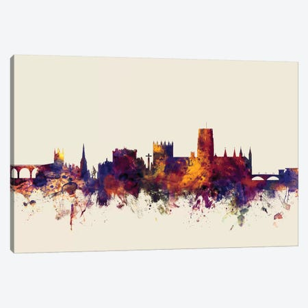 Durham, England, United Kingdom On Beige Canvas Print #MTO258} by Michael Tompsett Canvas Artwork