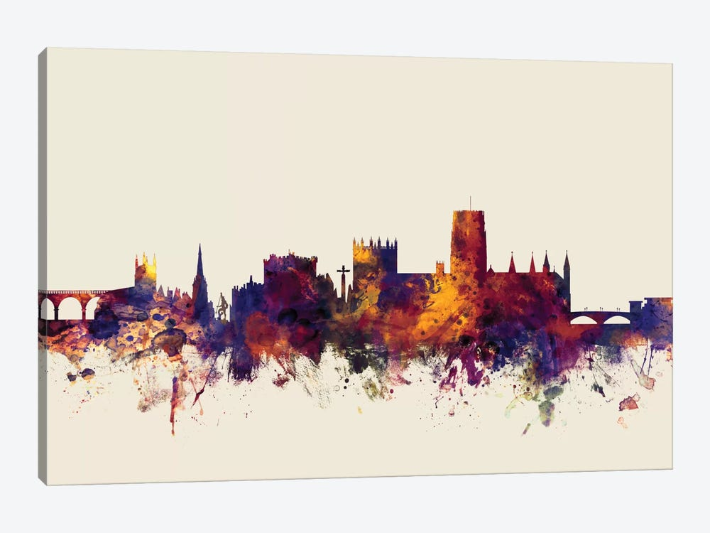 Durham, England, United Kingdom On Beige by Michael Tompsett 1-piece Art Print
