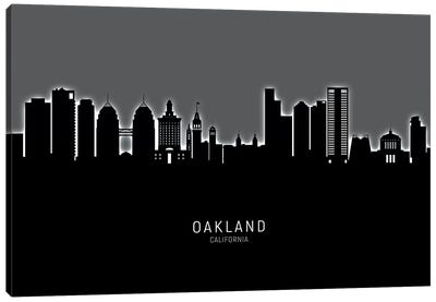 Oakland California Skyline Glow Canvas Art Print