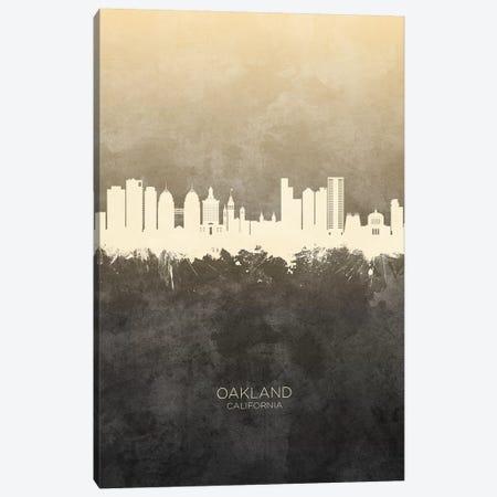 Oakland California Skyline Taupe Canvas Print #MTO2595} by Michael Tompsett Art Print