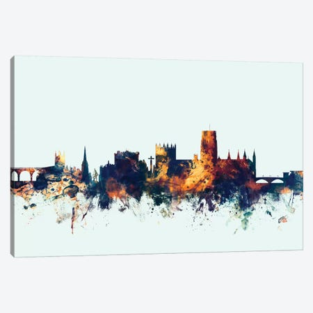 Durham, England, United Kingdom On Blue Canvas Print #MTO259} by Michael Tompsett Canvas Art