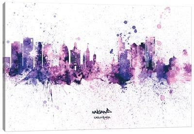 Oakland California Splash Purple Canvas Art Print