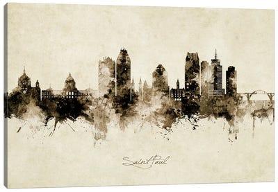 Saint Paul Minnesota Skyline Vintage Canvas Art Print