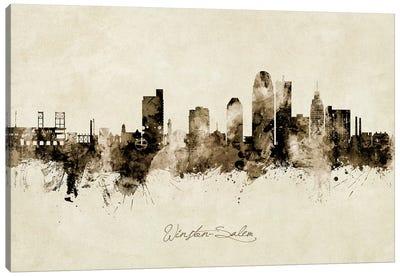 Winston Salem Skyline Vintage Canvas Art Print