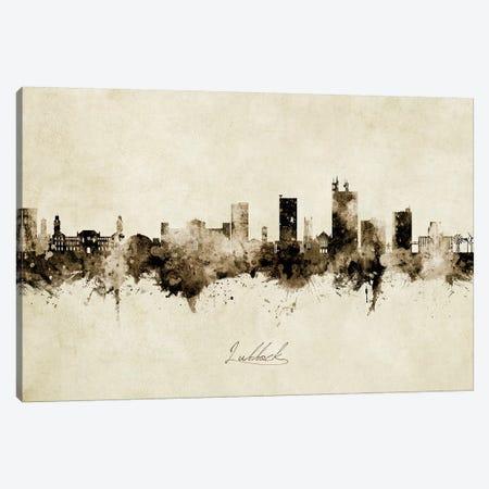 Lubbock Texas Skyline Vintage Canvas Print #MTO2619} by Michael Tompsett Canvas Print