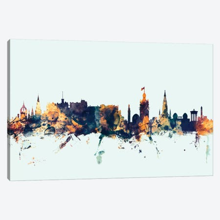 Edinburgh, Scotland, United Kingdom On Blue Canvas Print #MTO261} by Michael Tompsett Art Print
