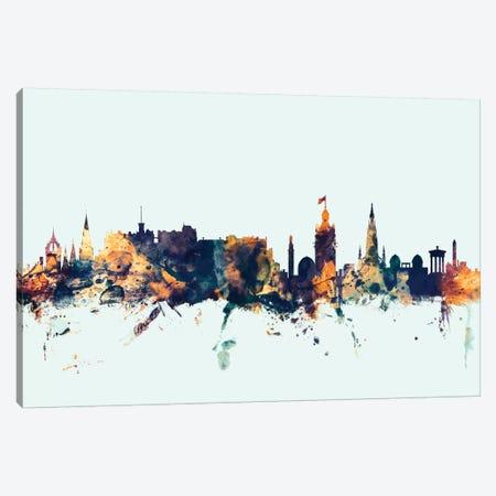 Edinburgh, Scotland, United Kingdom On Blue Canvas Print #MTO261} by Michael Tompsett Art Print