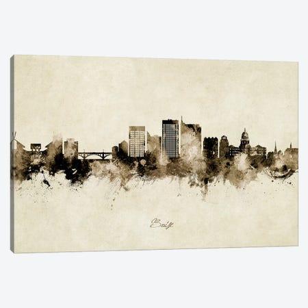 Boise Idaho Skyline Vintage Canvas Print #MTO2624} by Michael Tompsett Canvas Print