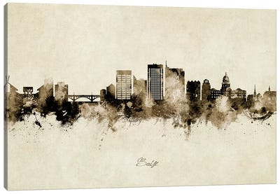 Boise Idaho Skyline Vintage Canvas Art Print