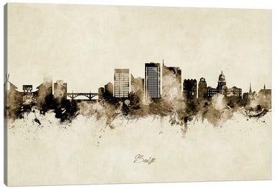 Boise Idaho Skyline Vintage Canvas Art Print