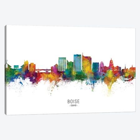 Boise Idaho Skyline City Name Canvas Print #MTO2626} by Michael Tompsett Art Print