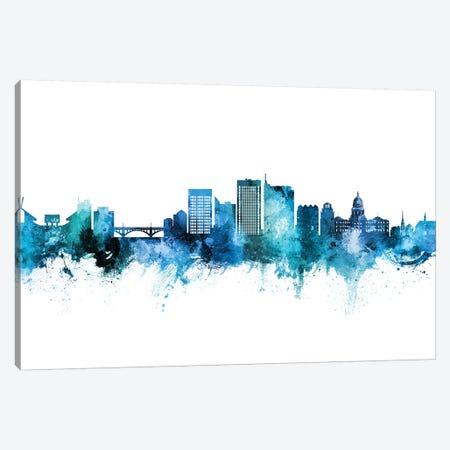 Boise Idaho Skyline Blue Teal Canvas Print #MTO2627} by Michael Tompsett Art Print