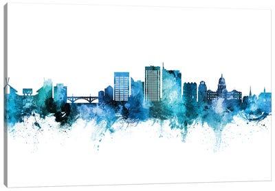 Boise Idaho Skyline Blue Teal Canvas Art Print