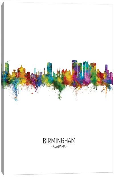 Birmingham Alabama Skyline Portrait Canvas Art Print