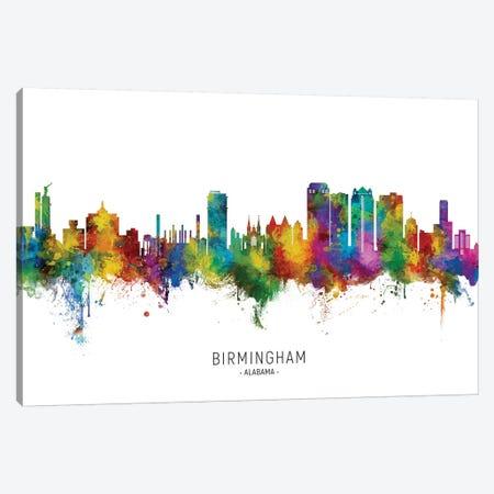 Birmingham Alabama Skyline City Name Canvas Print #MTO2631} by Michael Tompsett Canvas Art Print