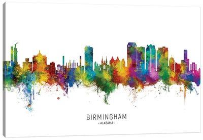 Birmingham Alabama Skyline City Name Canvas Art Print