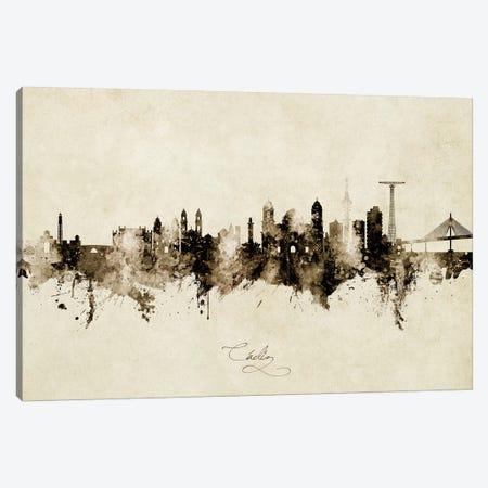 Cadiz Spain Skyline Vintage Canvas Print #MTO2639} by Michael Tompsett Canvas Print