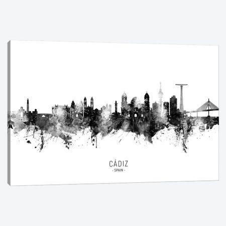 Cadiz Spain Skyline Name Bw Canvas Print #MTO2640} by Michael Tompsett Canvas Art