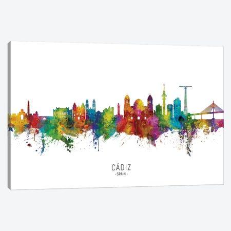 Cadiz Spain Skyline City Name Canvas Print #MTO2641} by Michael Tompsett Canvas Artwork