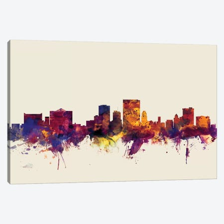 El Paso, Texas, USA On Beige Canvas Print #MTO264} by Michael Tompsett Canvas Wall Art