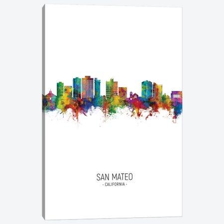 San Mateo California Skyline Portrait Canvas Print #MTO2653} by Michael Tompsett Art Print