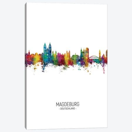 Magdeburg Deutschland Skyline Portrait Canvas Print #MTO2658} by Michael Tompsett Art Print