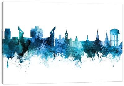 Auburn Alabama Skyline Blue Teal Canvas Art Print