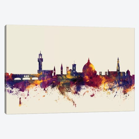 Florence, Italy On Beige Canvas Print #MTO266} by Michael Tompsett Canvas Wall Art