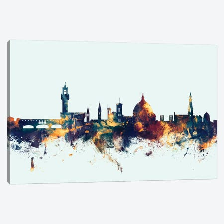 Florence, Italy On Blue Canvas Print #MTO267} by Michael Tompsett Canvas Artwork