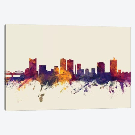 Fort Worth, Texas, USA On Beige Canvas Print #MTO268} by Michael Tompsett Canvas Print