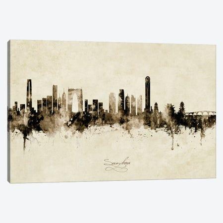 Suzhou China Skyline Vintage Canvas Print #MTO2692} by Michael Tompsett Art Print