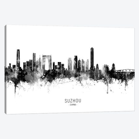 Suzhou China Skyline Name Bw Canvas Print #MTO2693} by Michael Tompsett Canvas Print