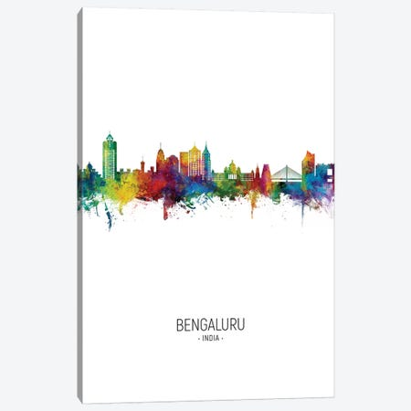 Bengaluru India Skyline Portrait Canvas Print #MTO2696} by Michael Tompsett Canvas Art