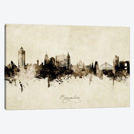 Bengaluru India Skyline Vintage Canvas Print #MTO2697} by Michael Tompsett Canvas Artwork