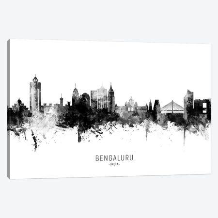 Bengaluru India Skyline Name Bw Canvas Print #MTO2698} by Michael Tompsett Canvas Print