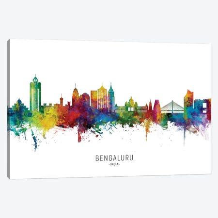 Bengaluru India Skyline City Name Canvas Print #MTO2699} by Michael Tompsett Canvas Print
