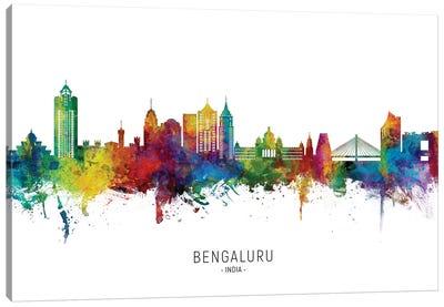 Bengaluru India Skyline City Name Canvas Art Print