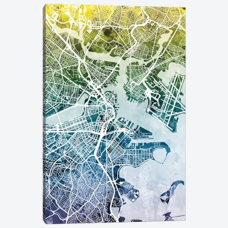 Boston, Massachusetts, USA 3-Piece Canvas #MTO26} by Michael Tompsett Canvas Art