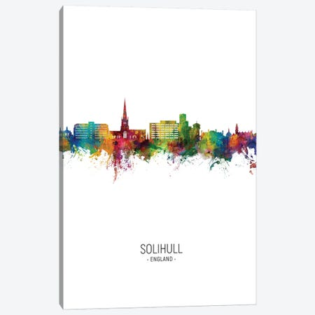 Solihull England Skyline Portrait Canvas Print #MTO2701} by Michael Tompsett Canvas Print
