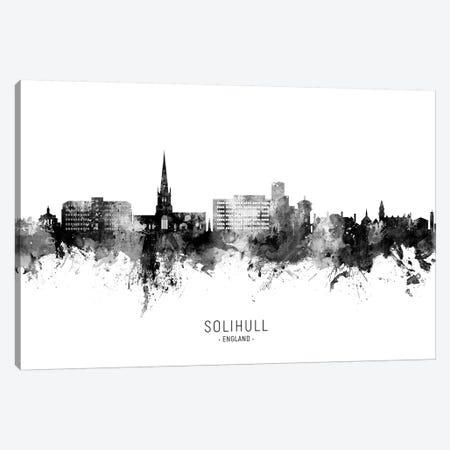 Solihull England Skyline Name In Black & White Canvas Print #MTO2702} by Michael Tompsett Art Print